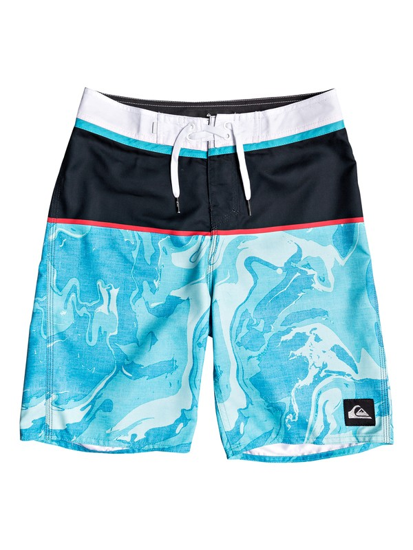 "0 Boy's 8-16 Everyday Down Under 18"" Boardshorts Blue EQBBS03386 Quiksilver"
