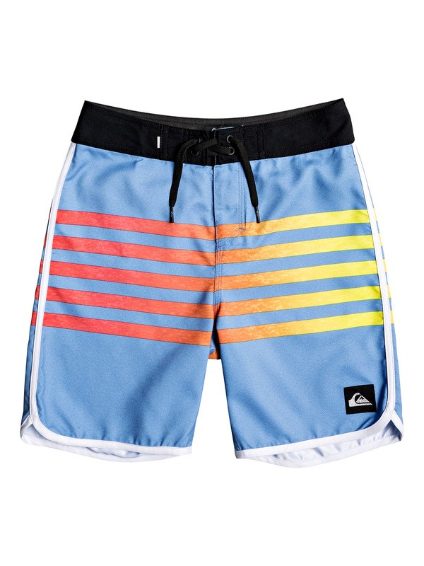 "0 Boy's 8-16 Everyday Grass Roots 17"" Boardshorts Blue EQBBS03387 Quiksilver"