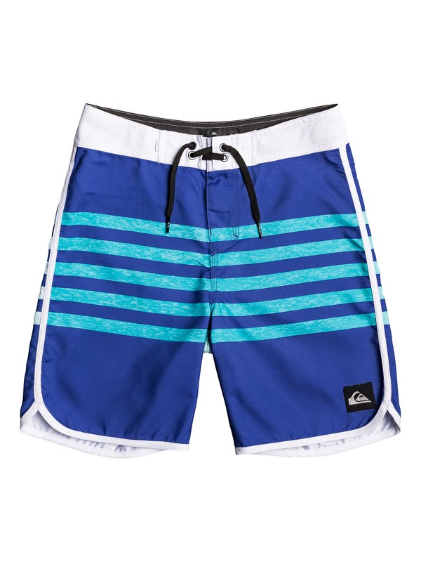 "0 Boy's 8-16 Everyday Grass Roots 17"" Boardshorts Purple EQBBS03387 Quiksilver"