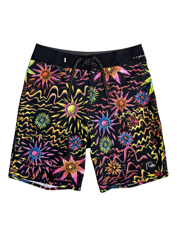 "0 Boy's 8-16 Highline Tripper 17"" Boardshorts Black EQBBS03395 Quiksilver"