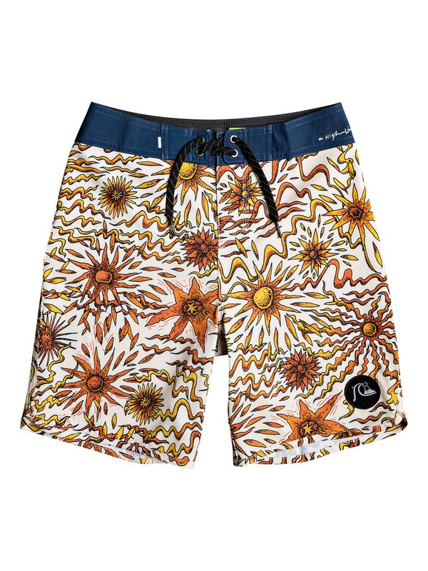 "0 Boy's 8-16 Highline Tripper 17"" Boardshorts Orange EQBBS03395 Quiksilver"