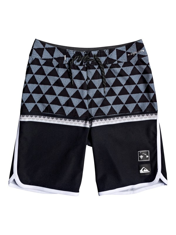 "0 Boy's 8-16 Highline Divide 18"" Boardshorts Blue EQBBS03396 Quiksilver"