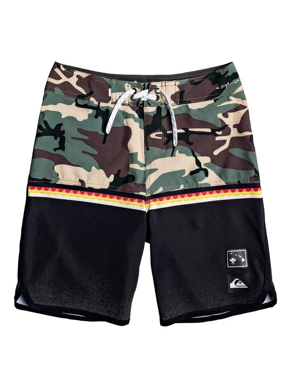 "0 Boy's 8-16 Highline Divide 18"" Boardshorts Black EQBBS03396 Quiksilver"