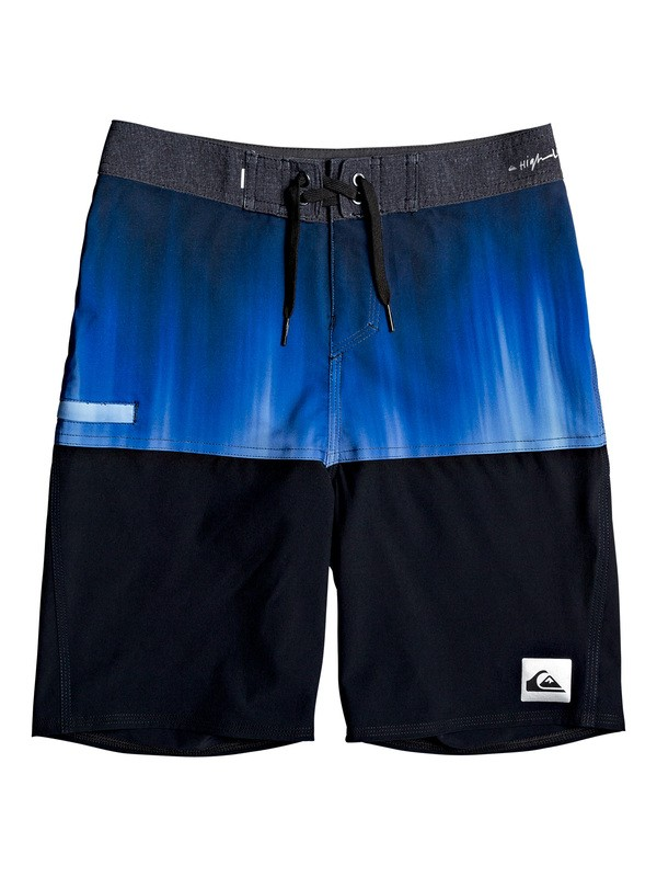 "0 Boy's 8-16 Highline Division 18"" Boardshorts Purple EQBBS03397 Quiksilver"