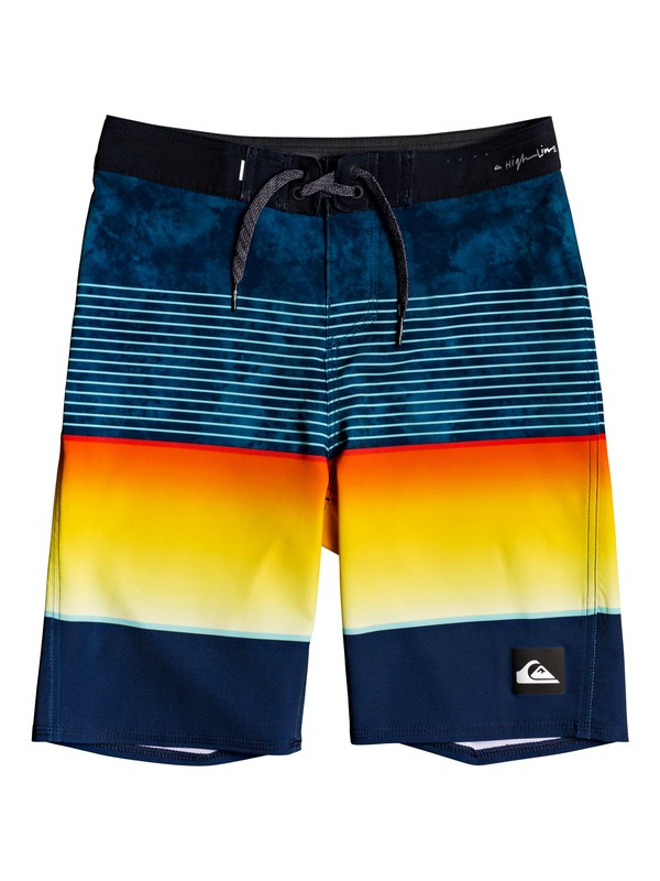 "0 Boy's 8-16 Highline Slab 18"" Boardshorts Blue EQBBS03403 Quiksilver"
