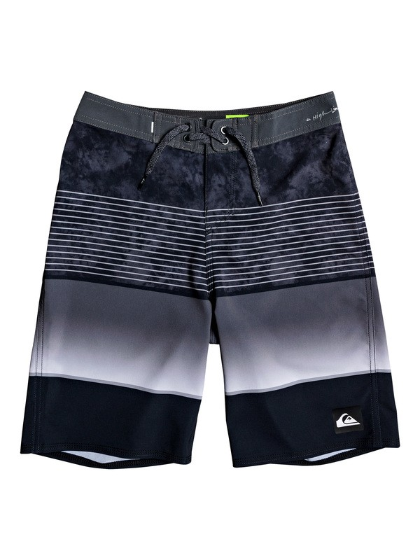 "0 Boy's 8-16 Highline Slab 18"" Boardshorts Black EQBBS03403 Quiksilver"