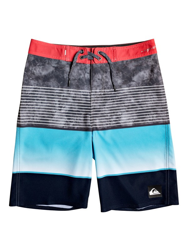 "0 Boy's 8-16 Highline Slab 18"" Boardshorts Red EQBBS03403 Quiksilver"