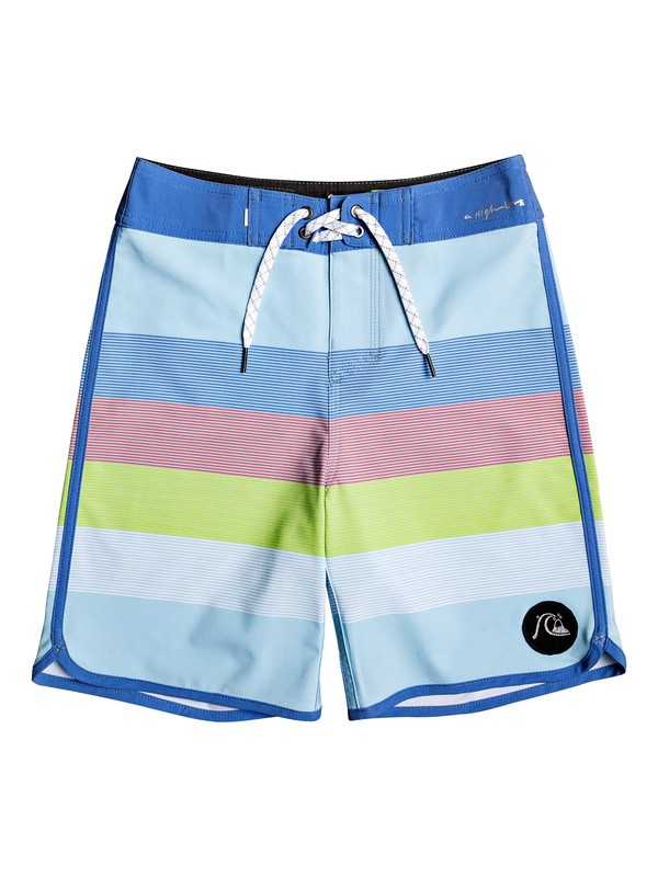 "0 Boy's 8-16 Highline Sunset 17"" Boardshorts Blue EQBBS03406 Quiksilver"