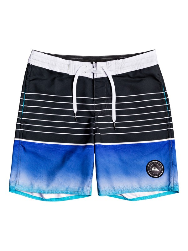 "0 Boy's 8-16 Swell Vision 15"" Beachshorts Purple EQBBS03412 Quiksilver"