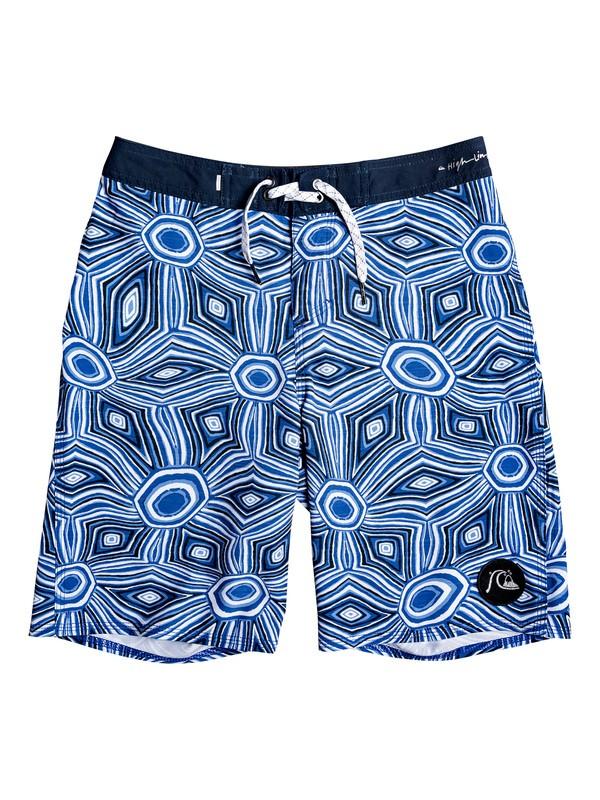"0 Boy's 8-16 Highline Tamarama 18"" Boardshorts Blue EQBBS03414 Quiksilver"