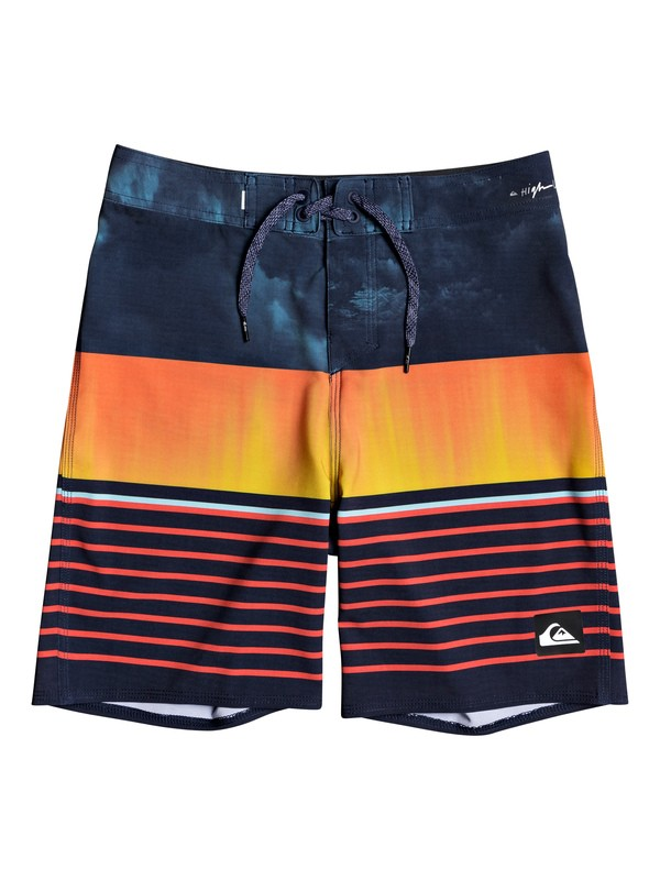 "0 Boys 8-16 Highline Swell Vision 17"" Boardshorts Blue EQBBS03427 Quiksilver"