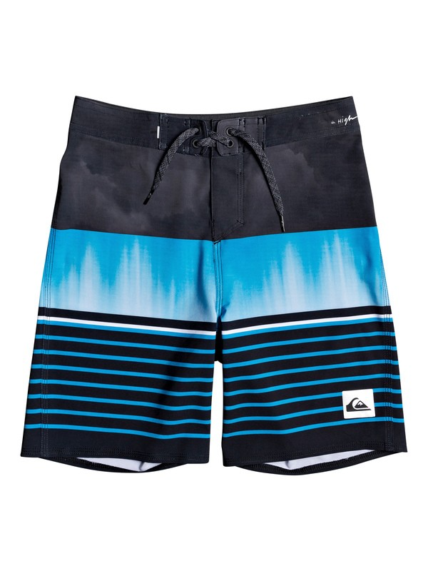 "0 Boys 8-16 Highline Swell Vision 17"" Boardshorts Black EQBBS03427 Quiksilver"