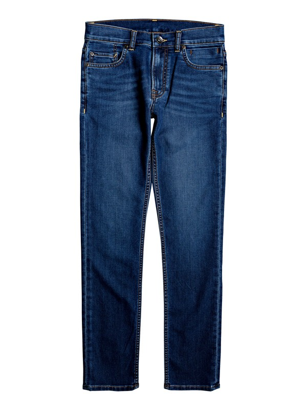 0 Distorsion Medium Dark - Slim Fit Jeans Blue EQBDP03160 Quiksilver