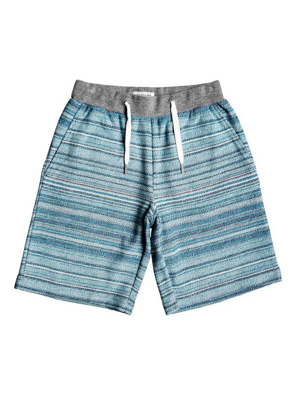 "0 Boy's 8-16 Great Otway 17"" Sweat Shorts Blue EQBFB03081 Quiksilver"