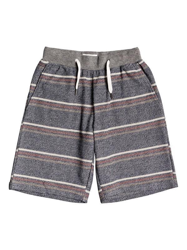"0 Boy's 8-16 Great Otway 17"" Sweat Shorts Black EQBFB03081 Quiksilver"