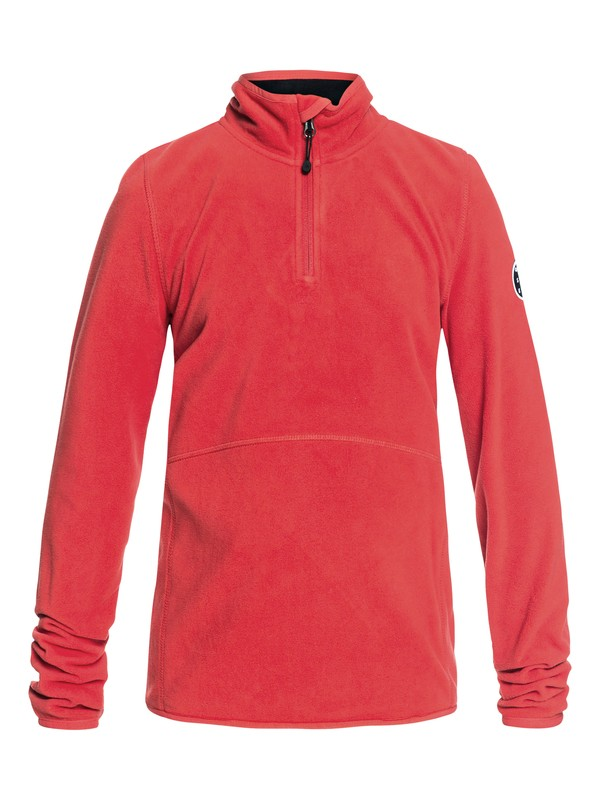 0 Aker - Technical Half-Zip Fleece for Boys 8-16 Red EQBFT03439 Quiksilver