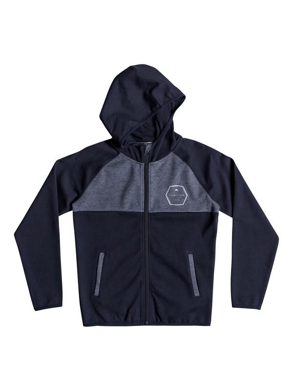 0 Izu Sula - Sweat à capuche zippé en matière contrecollée pour Garçon 8-16 ans Bleu EQBFT03452 Quiksilver