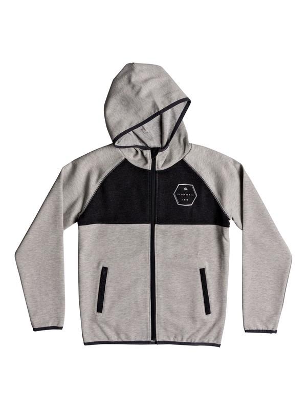 0 Izu Sula - Gelaagde hoodie met rits voor Jongens 8-16 Gray EQBFT03452 Quiksilver