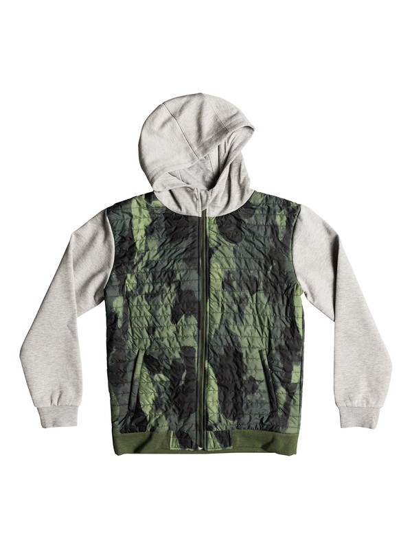 0 Leno Bay - Hooded Zip-Up Flacket for Boys 8-16 Green EQBFT03458 Quiksilver