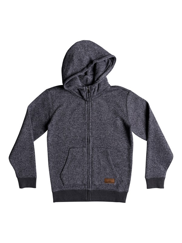 0 Boy's 8-16 Keller Zip Hooded Fleece Black EQBFT03464 Quiksilver