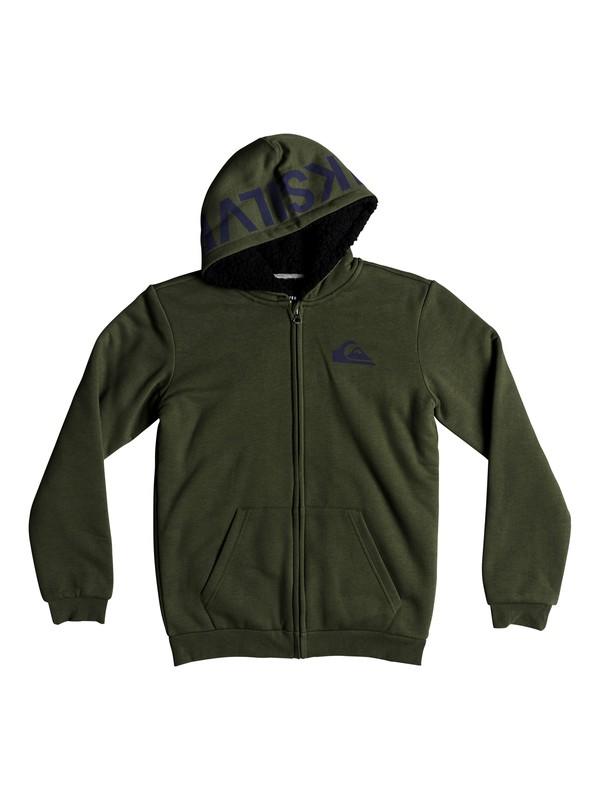 0 Best Wave Sherpa - Hoodie met rits voor Jongens 8-16 Green EQBFT03467 Quiksilver