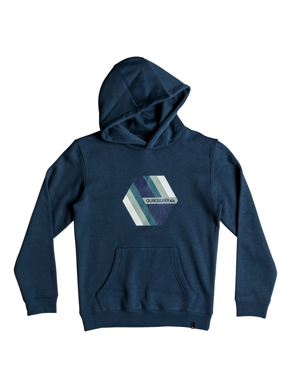 0 Boy's 8-16 Retro Right Hoodie Blue EQBFT03469 Quiksilver