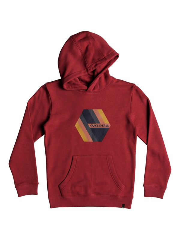 0 Boy's 8-16 Retro Right Hoodie Red EQBFT03469 Quiksilver