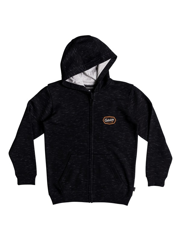 0 Living On The Edge - Zip-Up Hoodie for Boys 8-16 Black EQBFT03470 Quiksilver