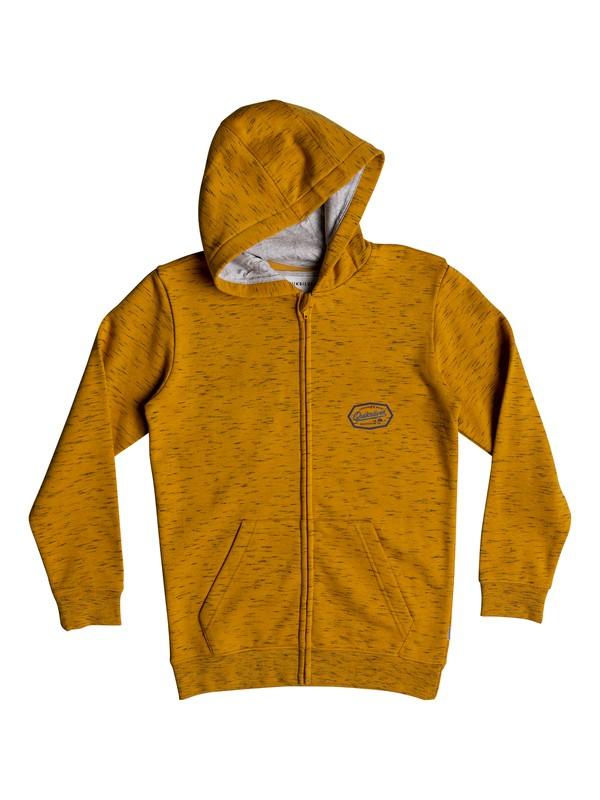 0 Living On The Edge - Kapuzenpulli mit Reißverschluss für Jungen 8-16 Orange EQBFT03470 Quiksilver