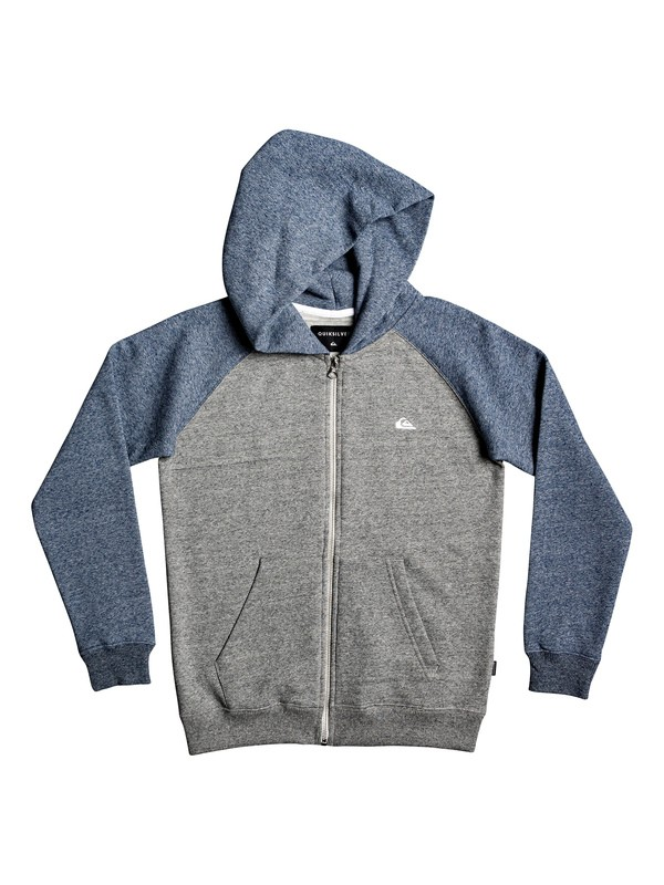 0 Everyday - Zip-Up Hoodie Grey EQBFT03472 Quiksilver