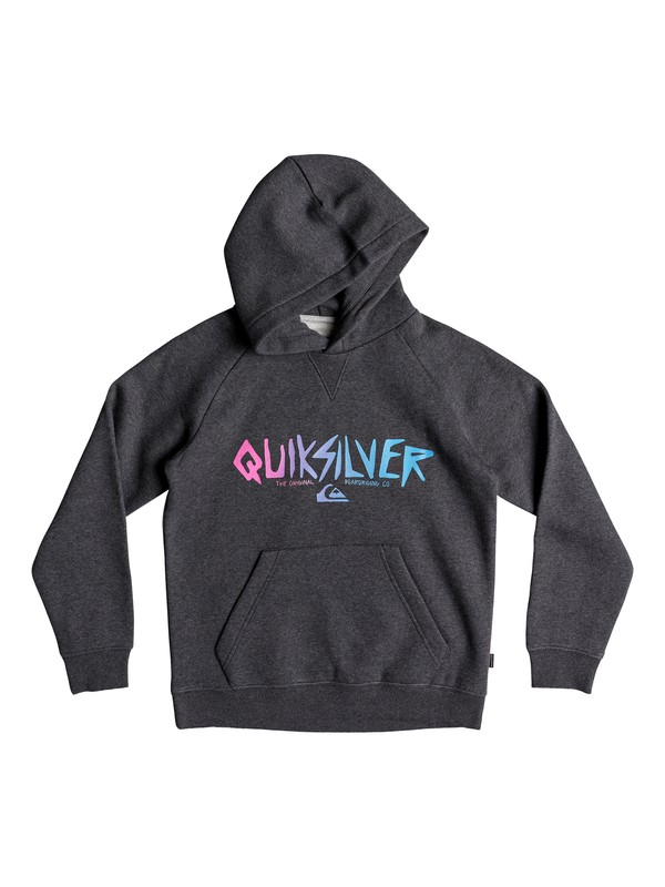 0 Boy's 8-16 Rough Type Hoodie Black EQBFT03482 Quiksilver