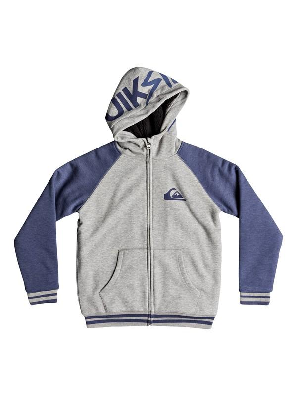 0 Boy's 8-16 Juwa Sherpa Zip Hoodie Blue EQBFT03484 Quiksilver