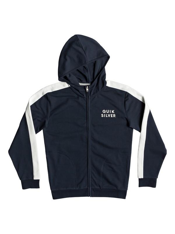 0 Boy's 8-16 Bun Bury Zip-Up Hoodie Blue EQBFT03492 Quiksilver