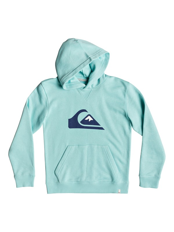 0 Big Logo - Hoodie for Boys 8-16 Blue EQBFT03493 Quiksilver