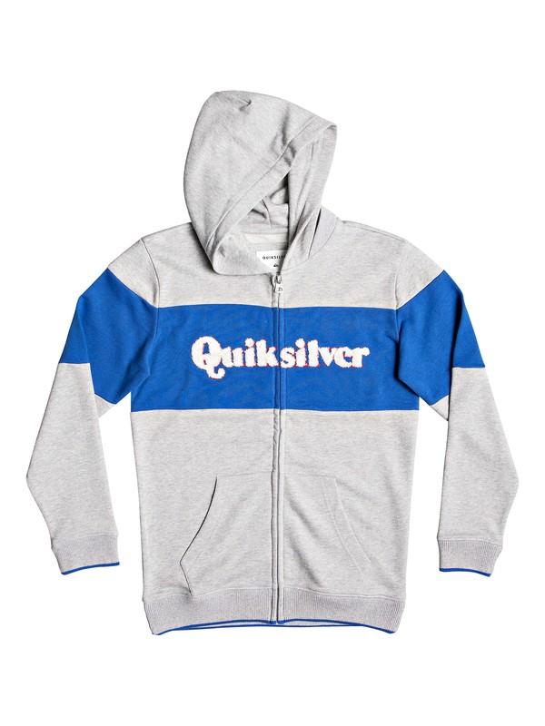 0 Power Slash - Zip-Up Hoodie for Boys 8-16 Grey EQBFT03495 Quiksilver