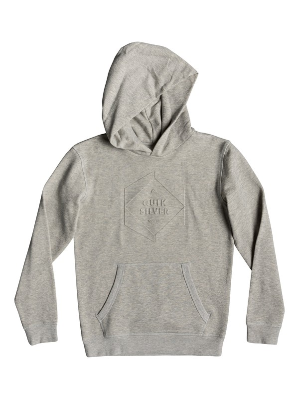 0 Global Grasp - Hoodie for Boys 8-16 Grey EQBFT03501 Quiksilver