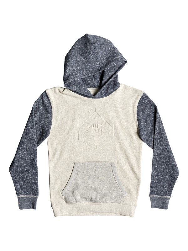 0 Global Grasp - Hoodie for Boys 8-16 White EQBFT03501 Quiksilver