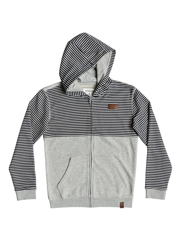 0 Boy's 8-16 Big 2 Do Zip-Up Hoodie Grey EQBFT03504 Quiksilver