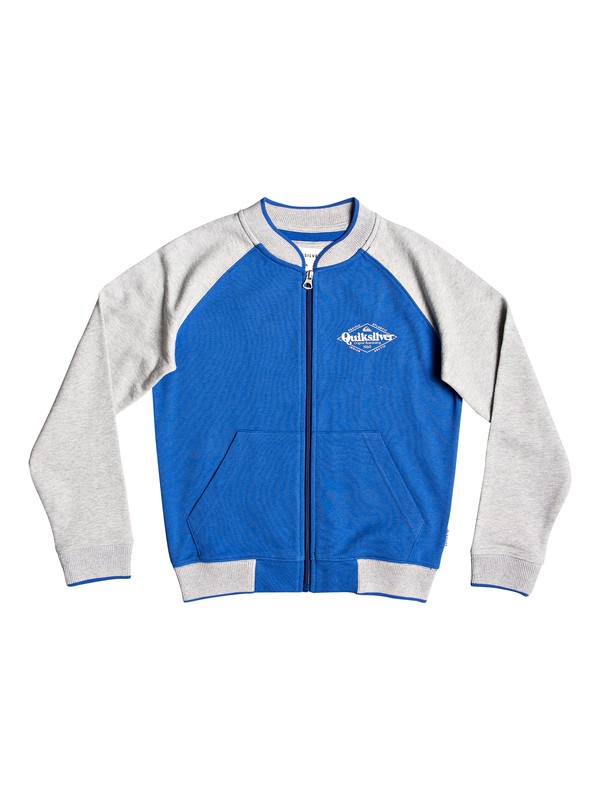 0 Power Slash - Bomber Sweatshirt for Boys 8-16 Grey EQBFT03506 Quiksilver