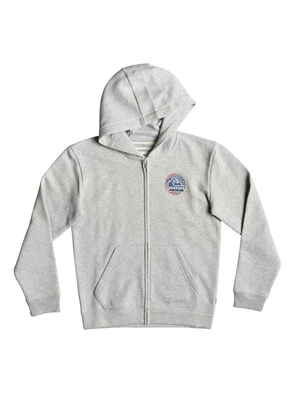 0 Boy's 8-16 Jam It Zip-Up Hoodie Grey EQBFT03516 Quiksilver