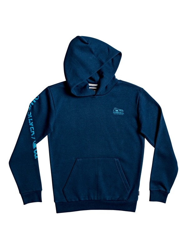 0 Flanklin Sunset - Sudadera con Capucha para Chicos 8-16 Azul EQBFT03553 Quiksilver