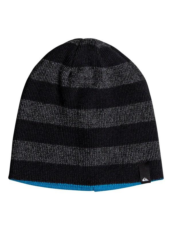 0 Boy's 8-16 Stripe Reversible Beanie Black EQBHA03041 Quiksilver