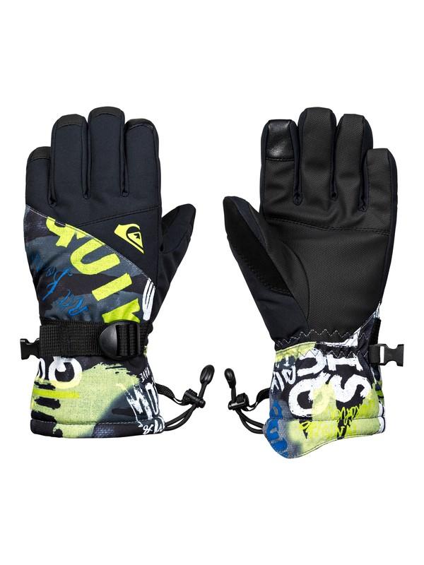 0 Boy's 8-16 Mission Snowboard/Ski Gloves Black EQBHN03023 Quiksilver