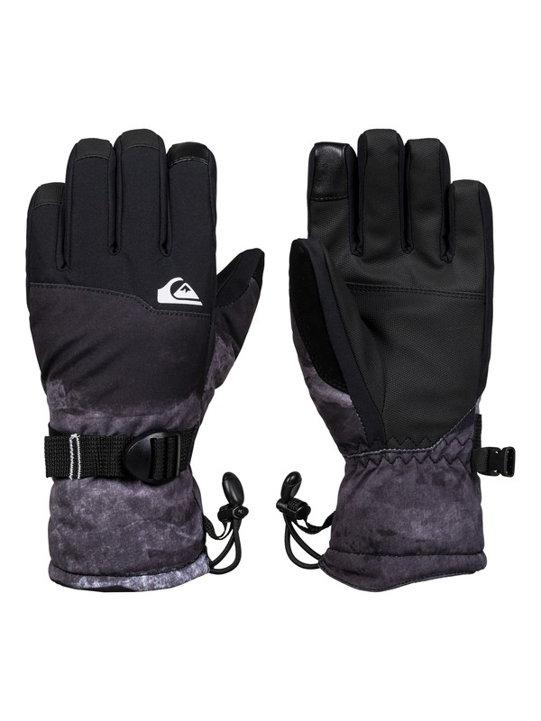0 Boy's 8-16 Mission Snowboard/Ski Gloves Black EQBHN03026 Quiksilver