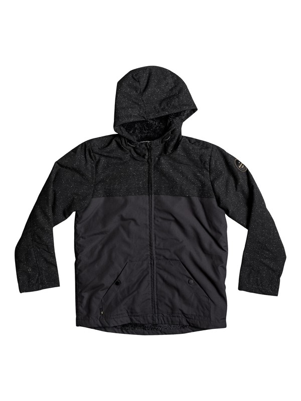 0 Wanna DWR - Water-Repellent Hooded Jacket for Boys 8-16 Black EQBJK03136 Quiksilver