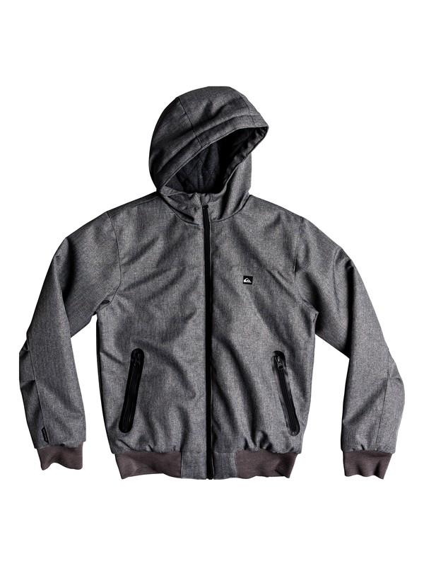 0 Brooks 5K - Manteau imperméable à capuche pour Garçon 8-16 ans Gris EQBJK03154 Quiksilver