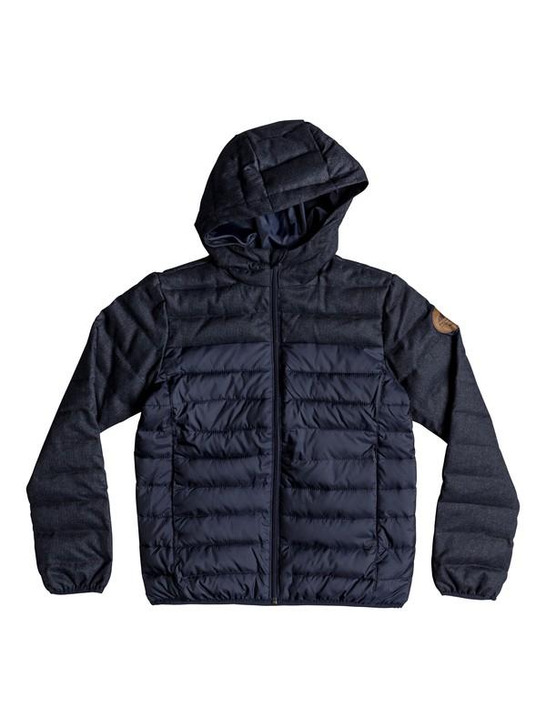 0 Scaly Mix - Veste chaude à capuche déperlante pour Garçon 8-16 ans Bleu EQBJK03156 Quiksilver