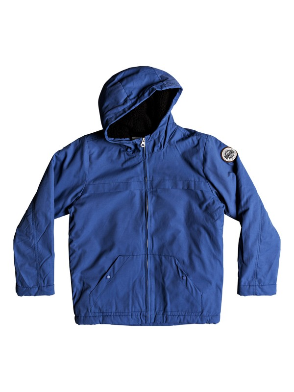 0 Wanna - Water-Resistant Hooded Parka for Boys 8-16 Blue EQBJK03158 Quiksilver