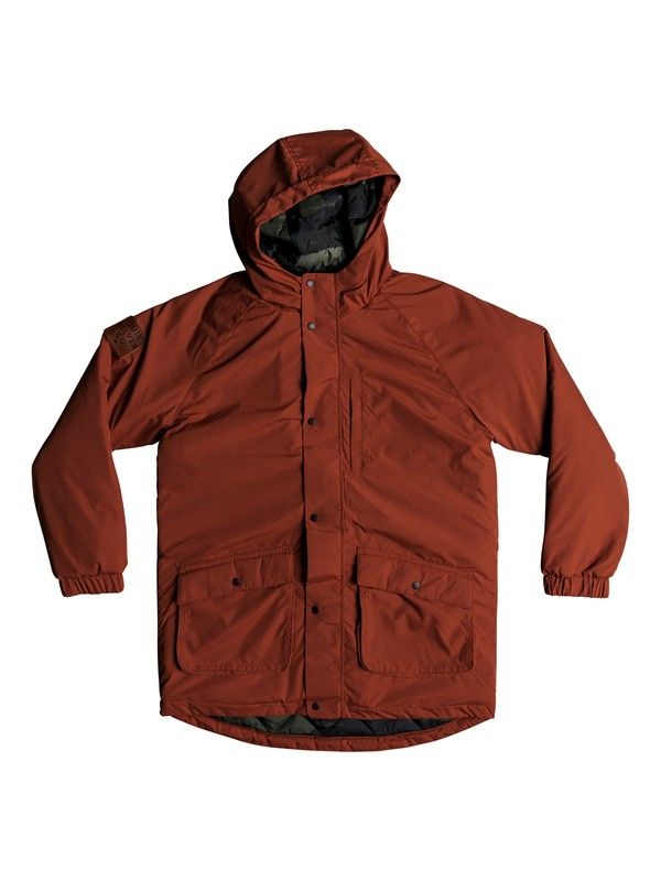 0 Mitake Smash - Water-Resistant Hooded Parka for Boys 8-16 Red EQBJK03163 Quiksilver