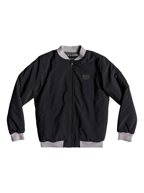 0 Boss Hogs - Water-Repellent Bomber Jacket for Boys 8-16 Black EQBJK03171 Quiksilver